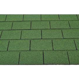3 - TAB Square Reinforced Fibreglass Roofing Shingles GREEN