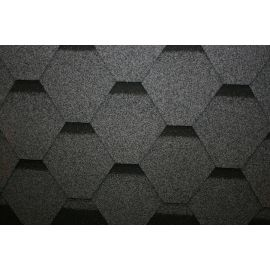 Hexagonal Reinforced Fibreglass Roofing Shingles GREY (10yr Guarantee) - Peel off adhesive backing - (3m2 per pack)