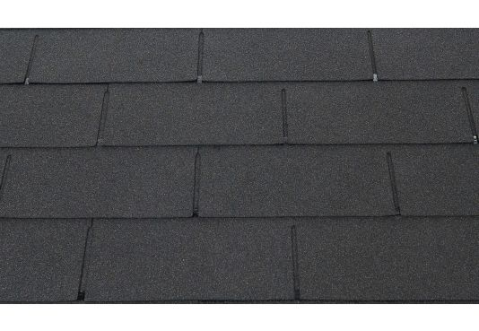 3 - TAB Square Reinforced Fibreglass Roofing Shingles BLACK