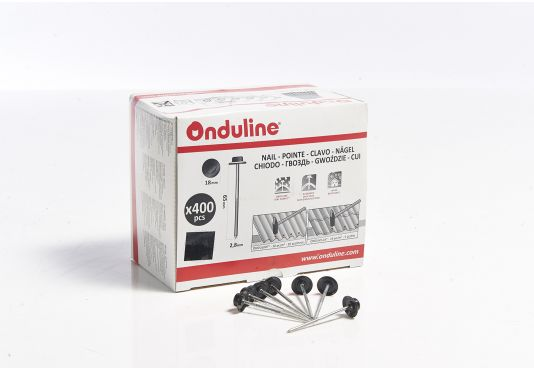 ONDULINE ROOFING 65mm Annular Ring Wire Nails - 400 pieces - BLACK