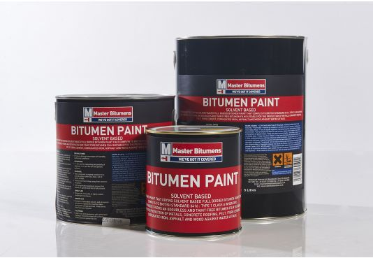 Black Bitumen Paint - 1 Litre.