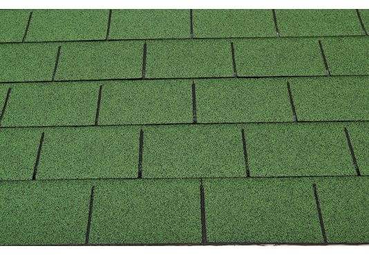 3 - TAB Square Reinforced Fibreglass Roofing Shingles GREEN