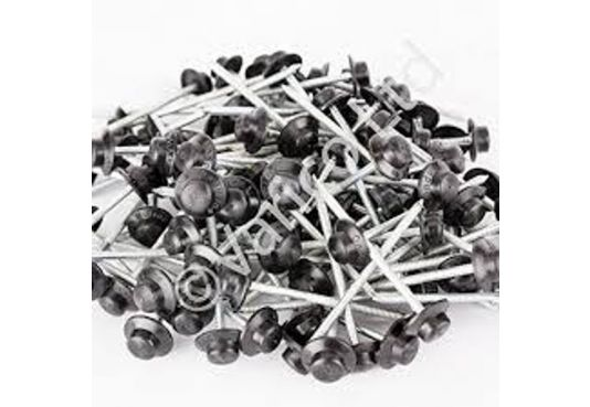 ONDULINE ROOFING 65mm Annular Ring Wire Nails - 100 pieces - BLACK