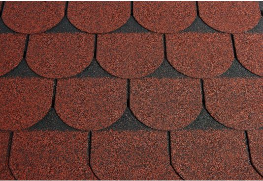 SCALLOPED Reinforced Fibreglass Roofing Sheet Shingles RED (10yr Guarantee) - (3m2 per pack)