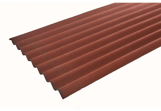 ONDULINE CLASSIC Corrugated Bitumen Roofing Sheets - RED   2m x 0.95m x 3mm
