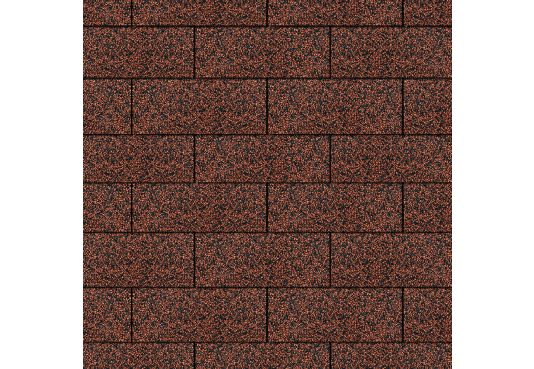 3 - TAB Square Reinforced Fibreglass Roofing Shingles RED