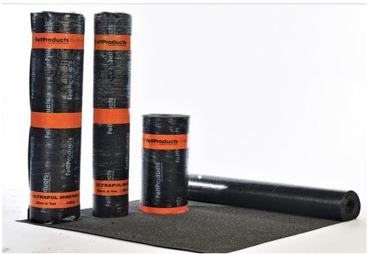ULTIMATE QUALITY IN POLYESTER MINERAL SHED ROOFING FELT - 10m x 1m