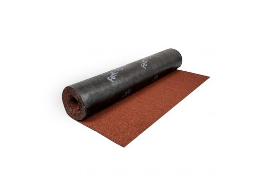 Polyester Shed Roofing Felt- Red Mineral - 10m x 1m - Ultimate Quality